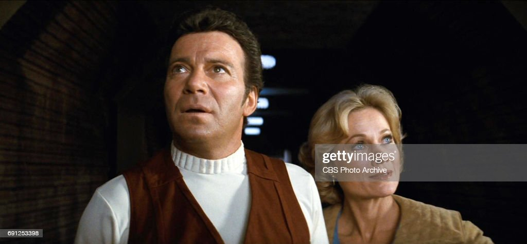 William Shatner as Admiral James T. Kirk and Bibi Besch as Dr. Carol ...