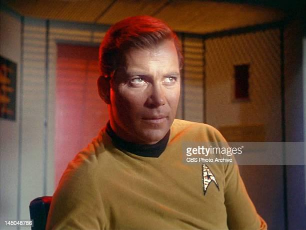 "William Shatner as Captain James T. Kirk in the STAR TREK episode, ""Balance of Terror."" Original airdate, December 15 season 1, episode 14. Image is..."