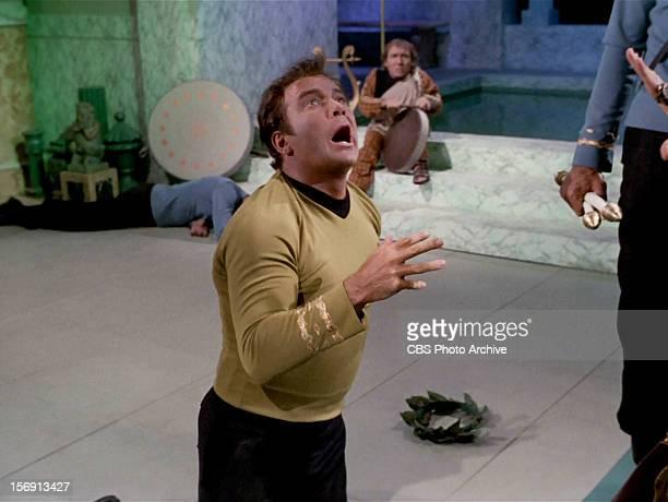 William Shatner as Captain James T Kirk in the STAR TREK episode Plato's Stepchildren Original air date November 22 1968 Season 3 episode 10 Image is...