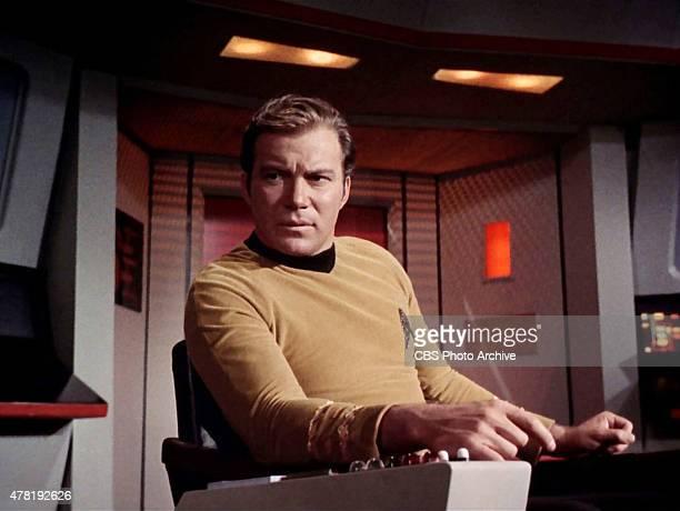 "William Shatner as Captain James T. Kirk in the STAR TREK: THE ORIGINAL SERIES episode, ""Assignment: Earth."" Season 2, episode 26. Original air date..."