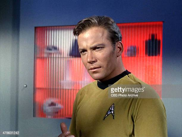 """William Shatner as Captain James T. Kirk on the Star Trek: The Original Series episode """"Space Seed."""" Original air date February 16, 1967. Image is a..."""