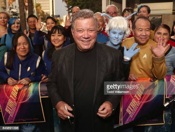 William Shatner attends the premiere of CBS's 'Star Trek Discovery' at The Cinerama Dome on September 19 2017 in Los Angeles California
