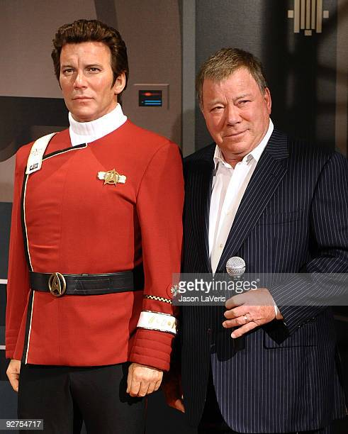 William Shatner attends the unveiling of a Captain Kirk wax figure at Madame Tussaud's Wax Museum on November 4 2009 in Los Angeles California