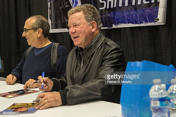 William Shatner attends Wizard World Comic Con at Cleveland Convention Center on February 21 2015 in Cleveland Ohio