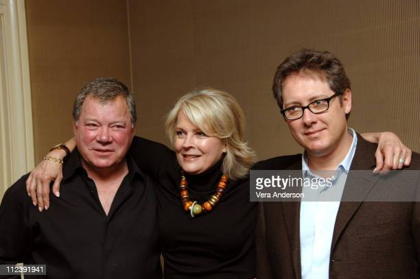 William Shatner Candice Bergen and James Spader during Boston Legal Press Conference with Candice Bergen William Shatner and James Spader at Regent...