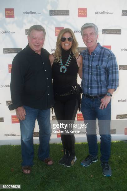 William Shatner Elizabeth Shatner and Tom Bergeron attend the 27th Annual Pricelinecom Hollywood Charity Horse Show at Los Angeles Equestrian Center...