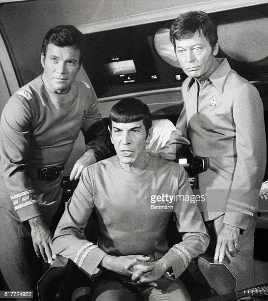 William Shatner, Leonard Nimoy, and DeForest Kelley appear together in the film Star Trek. Shatner played the role of Captain James T. Kirk, Nimoy...