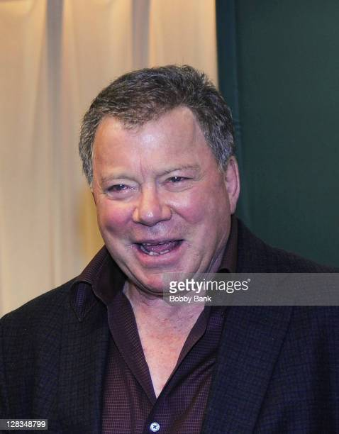 """William Shatner promotes """"Shatner Rules"""" at the Barnes & Noble, 5th Avenue on October 6, 2011 in New York City."""