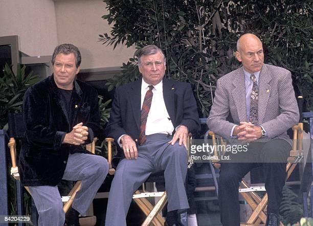 William Shatner 'Star Trek' creator Gene Roddenberry and Patrick Stewart