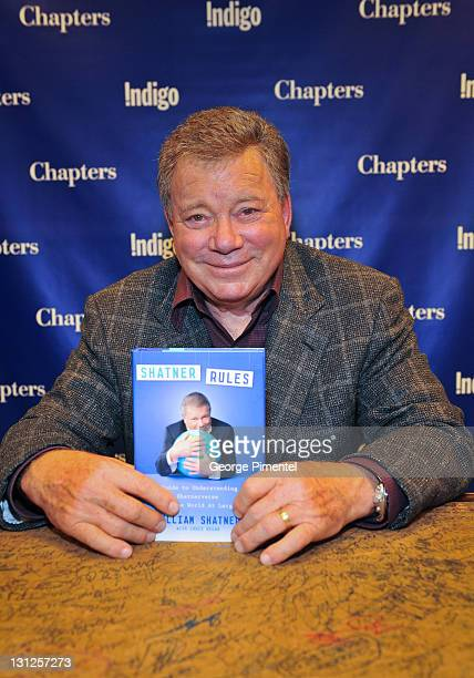 William Shatner visits Indigo to promote and sign autographs for his new book 'Shatner Rules Your Key to Understanding the Shatnerverse and the World...