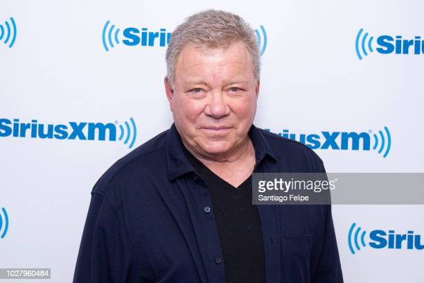 William Shatner visits SiriusXM Studios on September 6, 2018 in New York City.