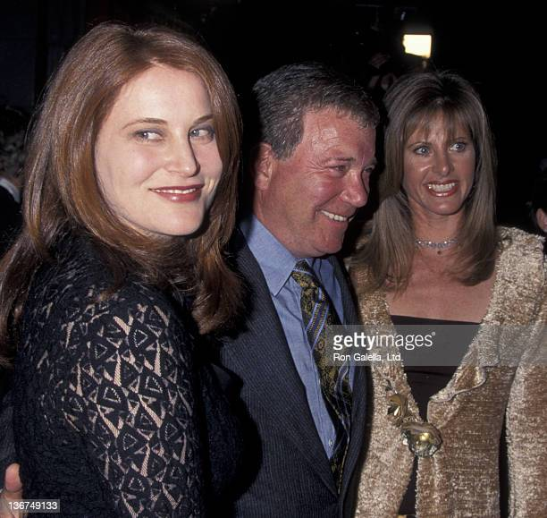William Shatner wife Elizabeth Martin and daughter attend the world premiere of Miss Congeniality on December 14 2000 at Mann Chinese Theater in...