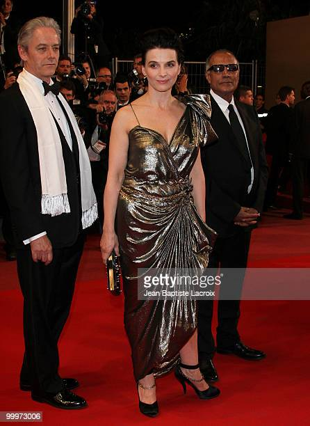William Shimell Juliette Binoche and Abbas Kiarostami attend the 'Certified Copy' Premiere at the Palais des Festivals during the 63rd Annual Cannes...