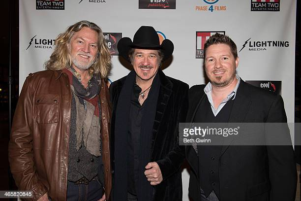 William Shockley Kix Brooks and Dustin Rikert attends the 'Ambush At Dark Canyon' premiere at the Country Music Hall of Fame and Museum on January 29...