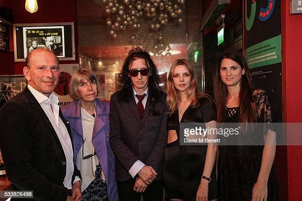 William Sieghart Evie Cooper Clarke John Cooper Clarke Greta Bellamacina and Davina Catt attend a drink reception celebrating the UK Premiere of The...