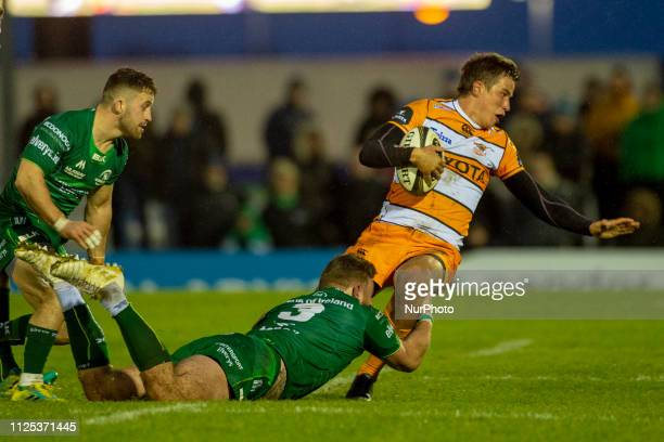 William Small-Smith of Cheetahs tackled by Finlay Bealham of Connacht during the Guinness PRO14 match between Connacht Rugby and Toyota Cheetahs at...