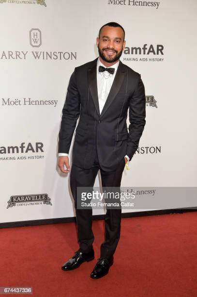 William Sousa attends the 7th Annual amfAR Inspiration Gala on April 27 2017 in Sao Paulo Brazil