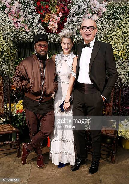 william Stephanie Simon and Marco Bizzarri attend the gala dinner as The Business of Fashion Presents VOICES on December 2 2016 in Oxfordshire England