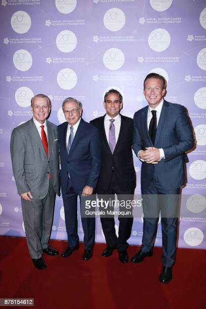 William T Sullivan Dr Samuel Waxman Michael Nierenberg and Chris Wragge during the Dr Samuel Waxman Cancer Research Foundation's COLLABORATING FOR A...