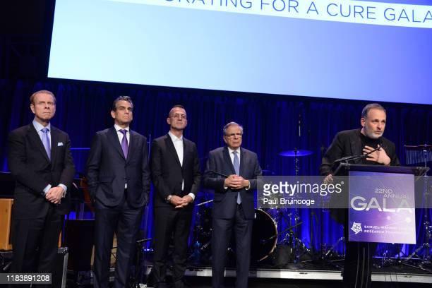 William T Sullivan Michael Nierenberg Steven Kolb Dr Samuel Waxman and Kobi Halperin attend 22nd Annual Collaborating For A Cure Gala Benefiting The...