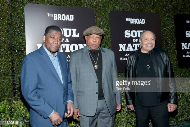William T Williams Melvin Edwards and Richard Mayhew attends The Broad Museum celebration for the opening of Soul Of A Nation Art in the Age of Black...