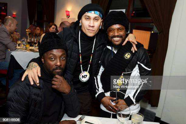 william Taboo and apldeap attend the A Dinner For Change celebrating 'Masters of The Sun' at KIA Supper Suite at Mustang on January 19 2018 in Park...