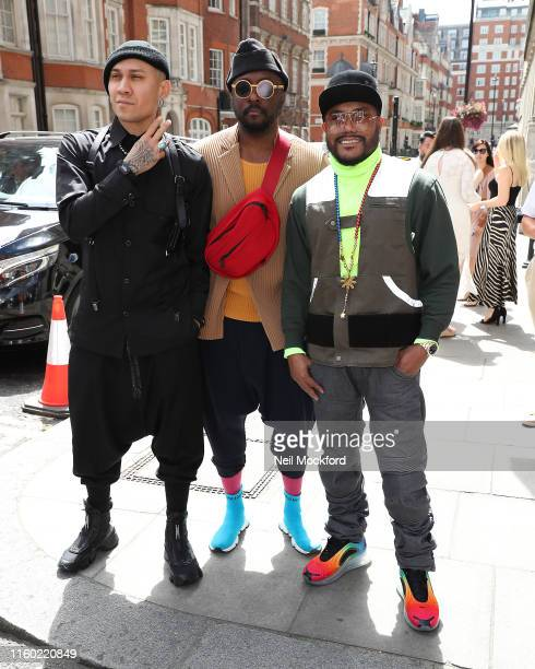 William Taboo and apldeap from Black Eyed Peas arrive for the Nordoff Robbins O2 Silver Clef Awards at Grosvenor House on July 05 2019 in London...