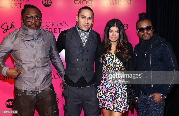 william Taboo Fergie and apldeap of the Black Eyed Peas attend the Victoria's Secret fashion show after party at M2 Ultra Lounge on November 19 2009...