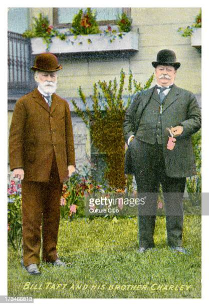 William Taft with brother Charley portrait WT 27th President and 10th Chief Justice of the United States 15 September 1857 – 8 March 1930