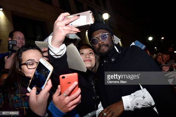 William takes selfies with fans at the GQ Men of the year Award 2016 at Komische Oper on November 10 2016 in Berlin Germany