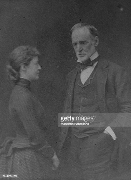 William Tecumseh Sherman of Civil War fame w daughter Rachel photo in collection of greatgrandson William T Hamlen