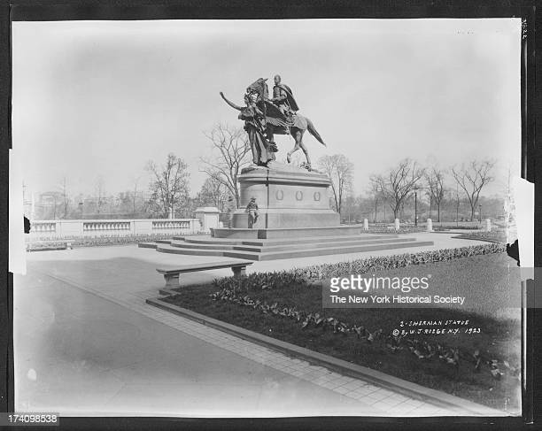 William Tecumseh Sherman statue Fifth Avenue and 59th Street Central Park New York New York 1923