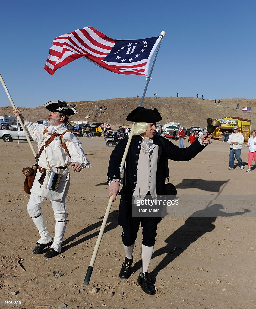 Large Tea Party Rally Held In Sen. Harry Reid's Hometown Of Searchlight, NV : News Photo