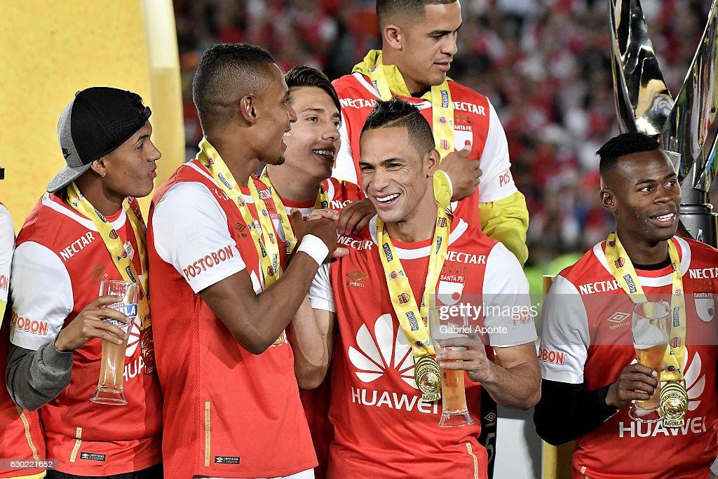 Santa Fe v Deportes Tolima - Liga Aguila II 2016