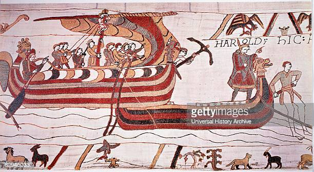 William the Conqueror Sails against England The Bayeux Tapestry