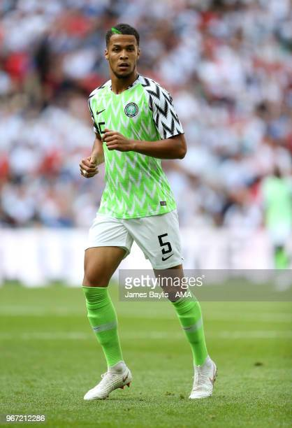 William TroostEkong of Nigeria during the International Friendly between England and Nigeria at Wembley Stadium on June 2 2018 in London England