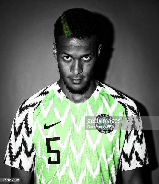 William Troost-Ekong of Nigeria poses during the official FIFA World Cup 2018 portrait session on June 12, 2018 in Yessentuki, Russia.
