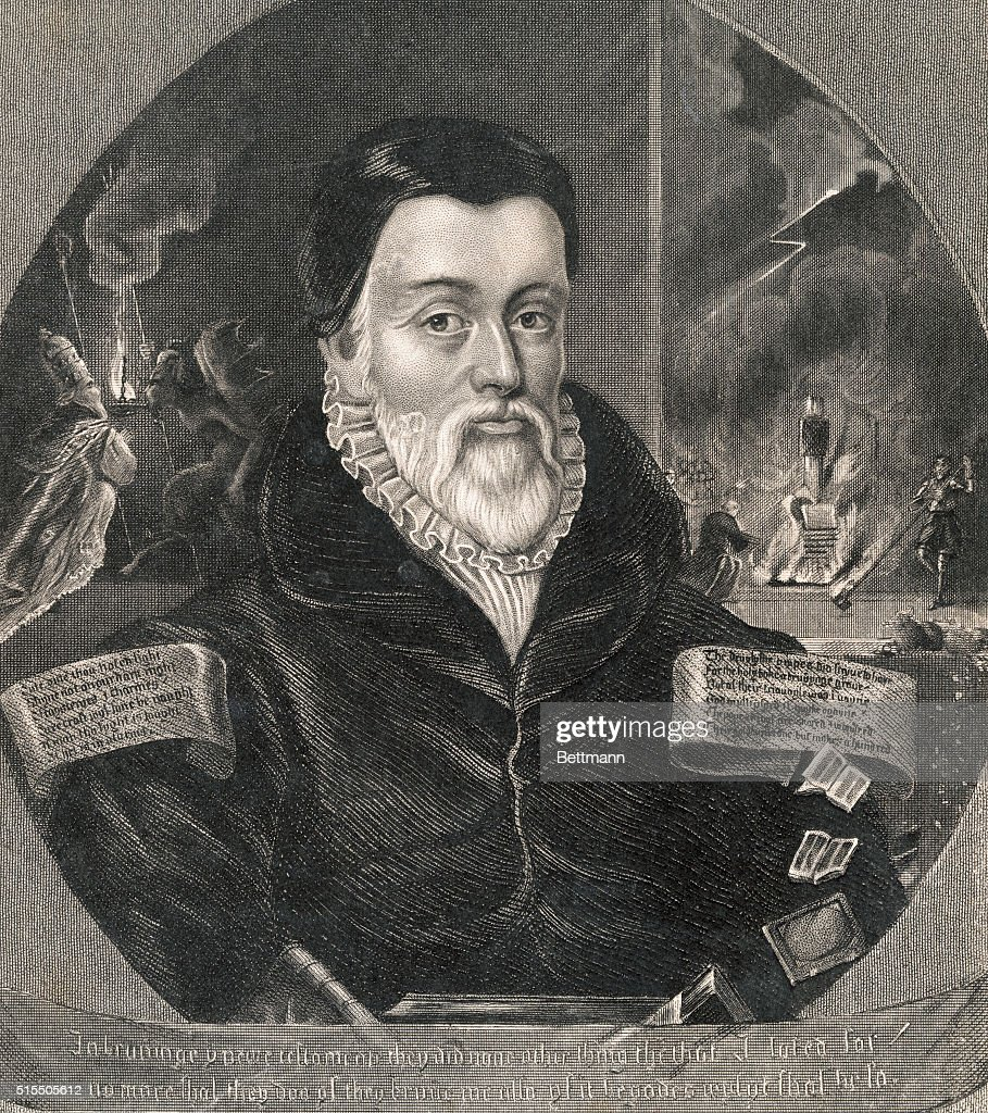 William Tyndale. Translator of the Bible into English, who was burned  Vilvoord in the