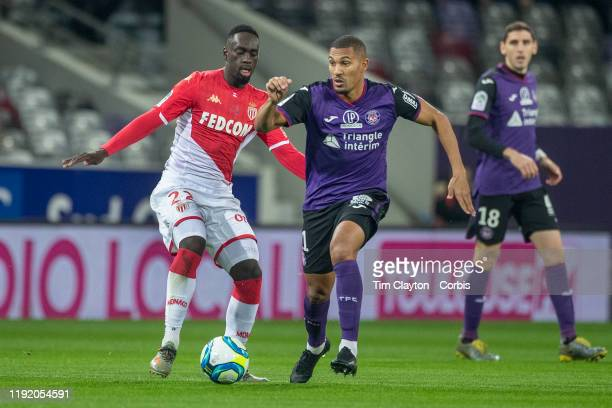William Vainqueur of Toulouse defended by JeanKevin Augustin of Monaco during the Toulouse FC V AS Monaco French Ligue 1 regular season match at the...