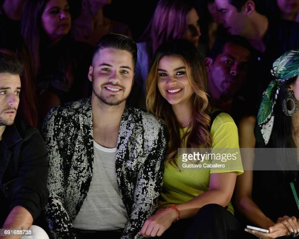 William Valdes and Clarissa Molina are seen front row at the Shantall Lacayo Show during Miami Fashion Week at Ice Palace Film Studios on June 2 2017...