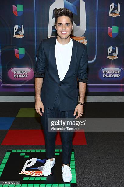 William Valdes is seen arriving at Univision's Premios Juventud 2015 at the Bank United Center on July 16 2015 in Miami Florida