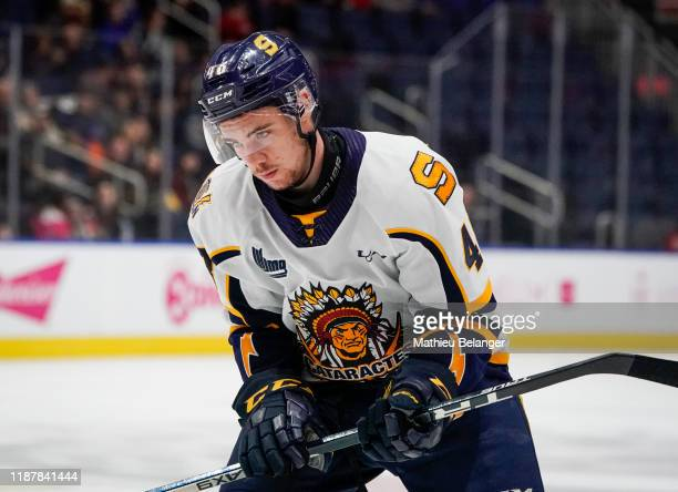 William Veillette of the Shawinigan Cataractes skates during his QMJHL hockey game at the Videotron Center on October 26, 2019 in Quebec City,...