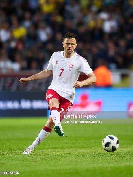William Vitved Kvist of Denmark during the International Friendly match between Sweden and Denmark at Friends Arena on June 2 2018 in Solna Sweden
