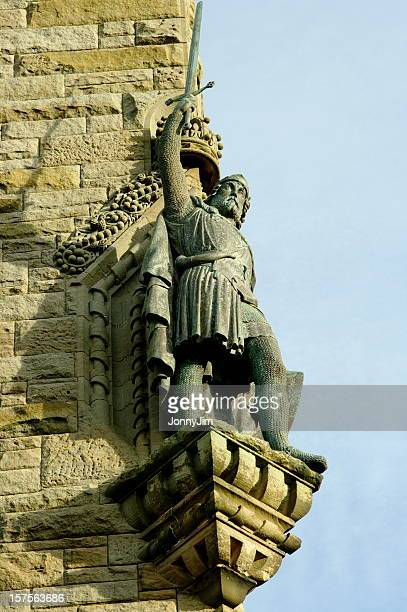 william wallace statue - stirling stock pictures, royalty-free photos & images