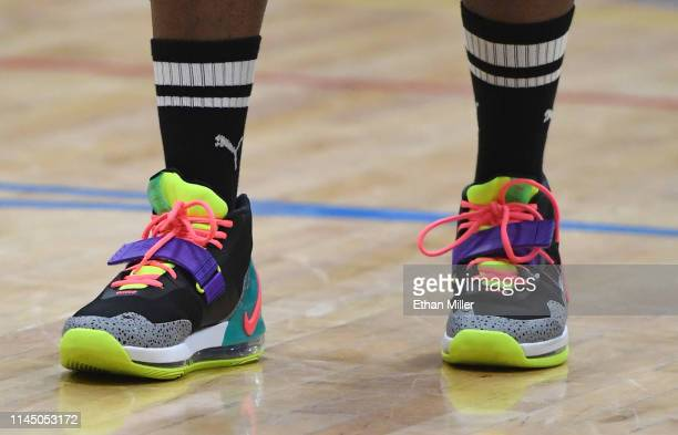 william wears Puma sneakers during Roc Nation's Roc da Court allstar basketball game benefiting the Boys Girls Clubs of Southern Nevada at Tarkanian...