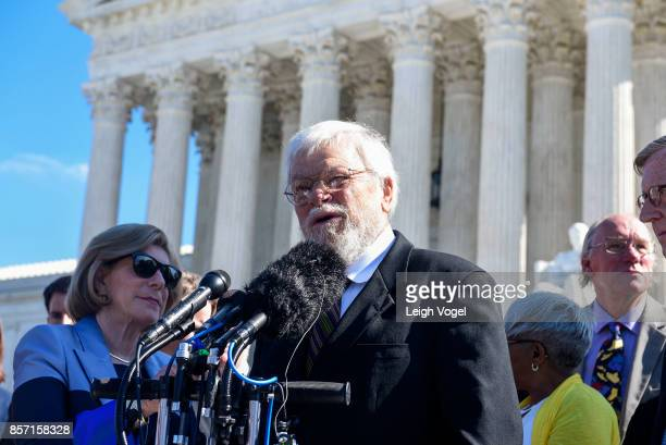 William Whitford speaks during a rally to call for 'An End to Partisan Gerrymandering' at the Supreme Court of the United States on October 3 2017 in...