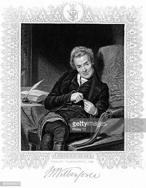 William Wilberforce English philanthropist. Abolition of slavery.Engraving.