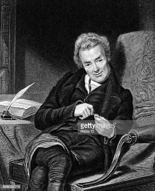 William Wilberforce English philanthropist. Abolition of slavery. Engraving.