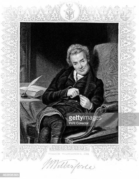 William Wilberforce , English philanthropist. Prominent in the struggle to abolish slavery. Engraving.