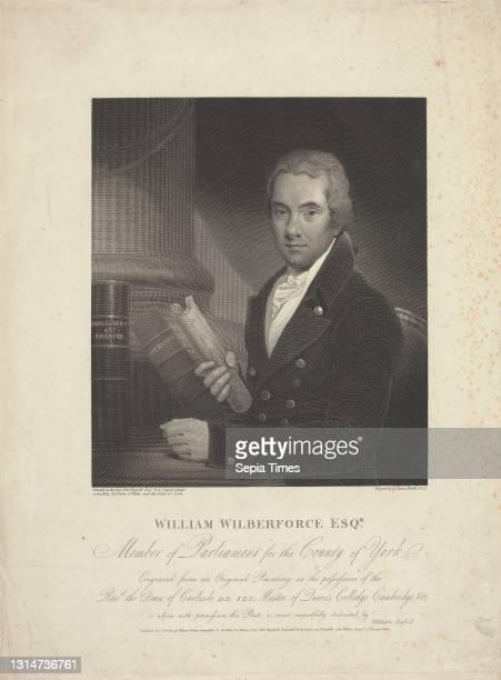 William Wilberforce Esqr., James Heath, 1757–1834, British, after John Russell, 1745–1806, British Engraving, Sheet: 20 11/16 x 15 3/16 in. .